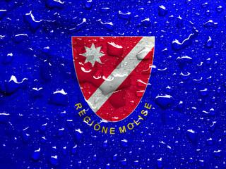 flag of Molise with rain drops
