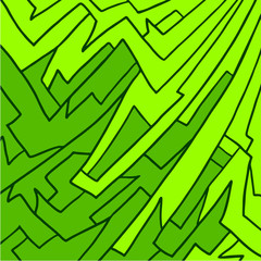 green wallpaper art