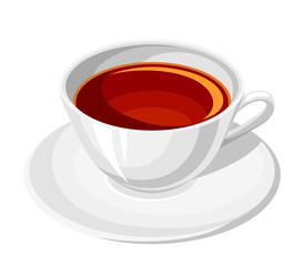 Cup of tea. Vector illustration.