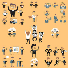 business people color vector