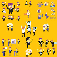 business people vector color