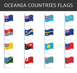 oceania flag vector