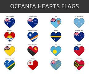 ocenia hearts flags vector
