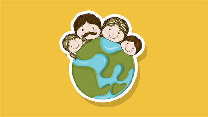 Family world Video animation, HD 1080