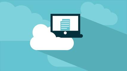 Cloud computing Video animation, HD 1080