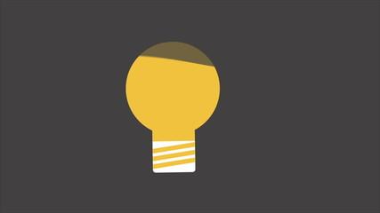 light bulb idea Video animation, HD 1080