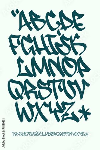 Graffiti font - Hand written - Vector alphabet - 78180831