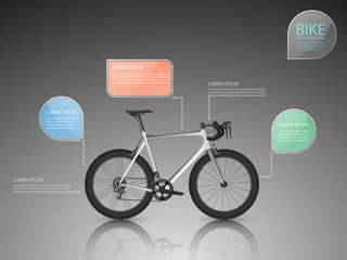 bicycle,infographic .vector