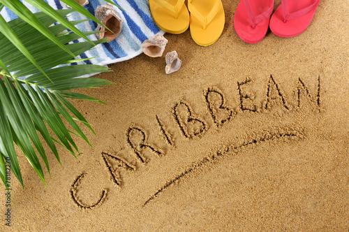 Foto op Plexiglas Ontspanning Caribbean beach background