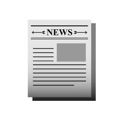 Newspaper icon vector art