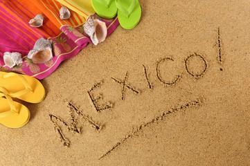 Mexico beach background