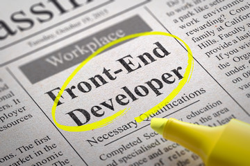 Front-End Developer  Vacancy in Newspaper.