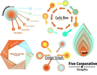 Concentric Colorful Stylish Corporative graphs