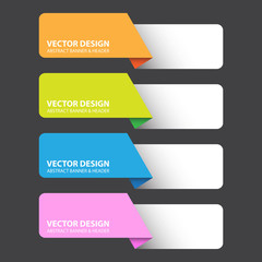 Abstract Colorful Label, Vector Work