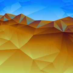 Geometric background abstract landscape
