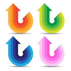 Abstract Colorful Arrow Symbol, Vector Work
