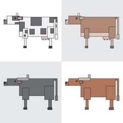 symbol icon rectangle animal cow buffalo