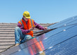 worker and solar panels - 78184242