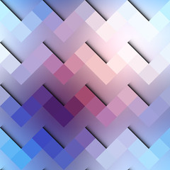 Chevron geometric pattern on blurred blue background.