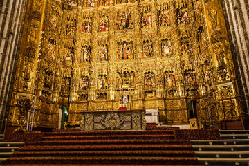 Main Altar in Seville Cathedral