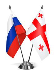 Russia and Georgia - Miniature Flags.