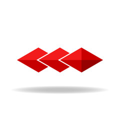 Red rhombus, technology or business logo