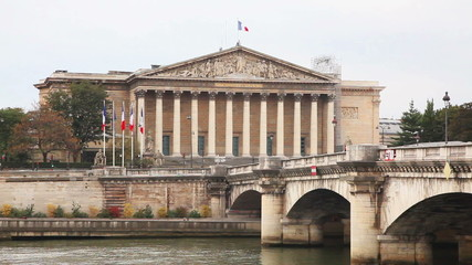 National Assembly (Assemblee  Nationale) building in Paris