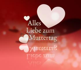 Alles Liebe zum Muttertag _ Herz