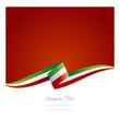 New abstract Italy flag ribbon