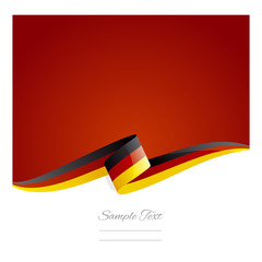 New abstract Germany flag ribbon
