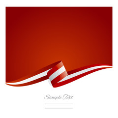 New abstract Austria flag ribbon