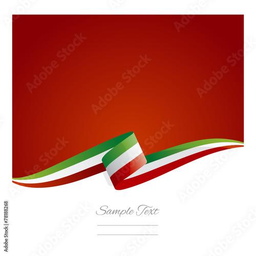 Nowa wstążka flaga streszczenie Włoch