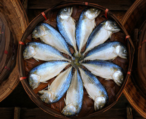 thai gulf  Mackerel fish boiled cooking ready to eat presale in