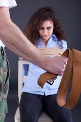 bound beaten women, in the hands of kidnappers