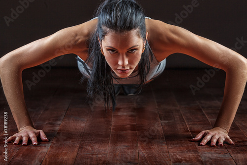 woman pushed from the floor