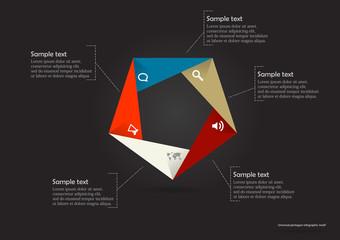 Pentagon origami infographic