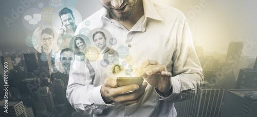 Concept of social media. - 78190000
