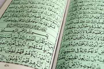 Closeup of Quran