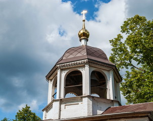 Ancient bell tower of the monastery in Pereslavl Zalessky