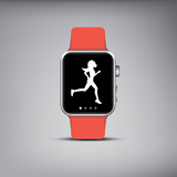 Smart watch technology with sport fitness tracker applications poster