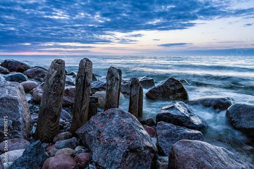 Fototapeta Buhne an der Ostsee