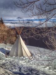 Indianer im Schnee