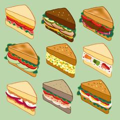 Sandwich variety parade