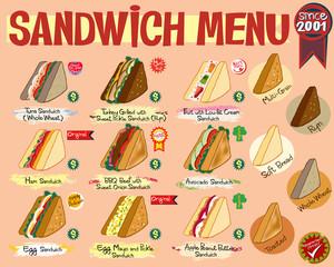Sandwich Menu