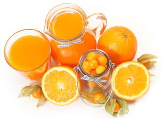 orange on white