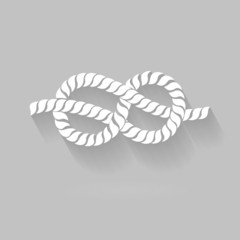 Black and White Rope Eight Knot Graphic Design