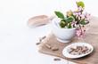 Herbal medicine capsules over white - 78194470