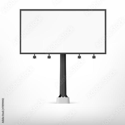 Blank black billboard, vector illustration. - 78194442