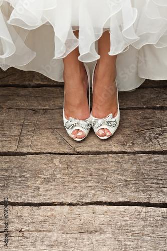 white wedding shoes - 78194483
