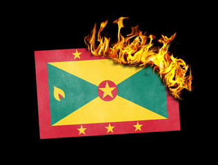 Flag burning - Grenada